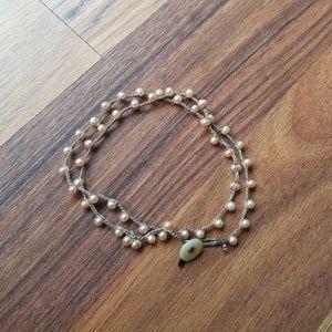 on u Jewelry - Rose Gold Bead Bracelet
